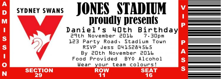 AFL Sydney Swans Football Club - Click Image to Close