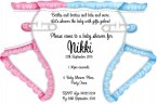 NEW NAPPY INVITATION PINK /BLUE