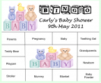 Baby Shower Bingo bsb08